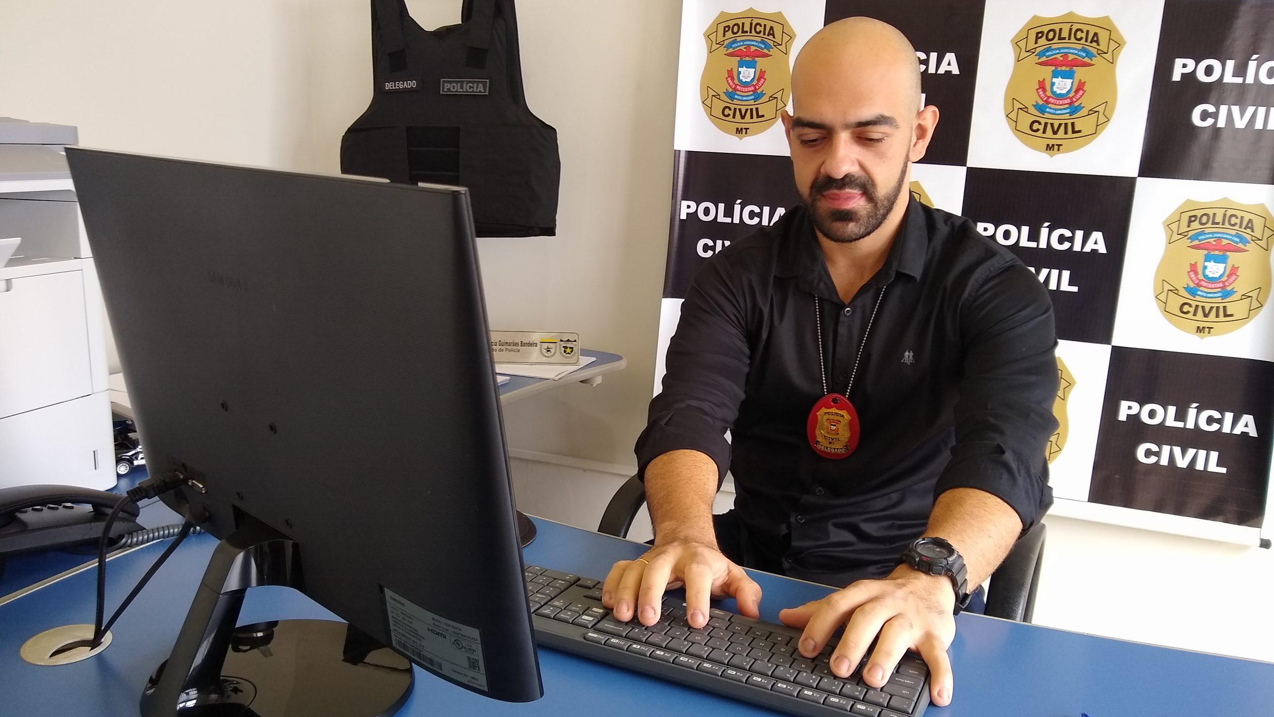 Imagem: delegado Rodolpho Bandeira foto Advogada é presa por apropriação indébita de valor de ação judicial