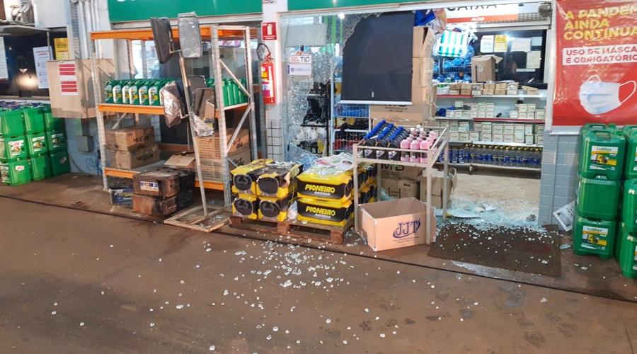 Imagem: disparos posto Suspeito atira contra a polícia em Rondonópolis e acaba preso