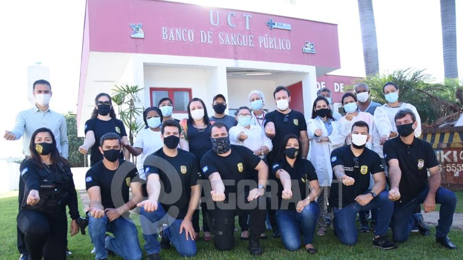 Imagem: doacao sangue policia civil foto varlei cordova 1 Investigadores doam sangue durante a 'Semana do Policial Civil 2021'