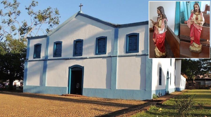 Imagem: igreja imagem Criminosos invadem igreja e furtam imagens sacras
