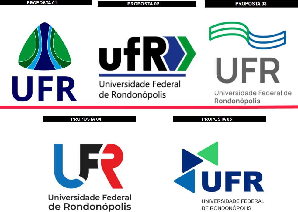 Imagem: logos ufr UFR convida população a escolher a logomarca da instituição