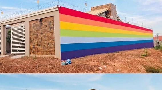 Imagem: procurador campinapolis Procurador de município de MT pinta casa com cores do orgulho LGBTQI+