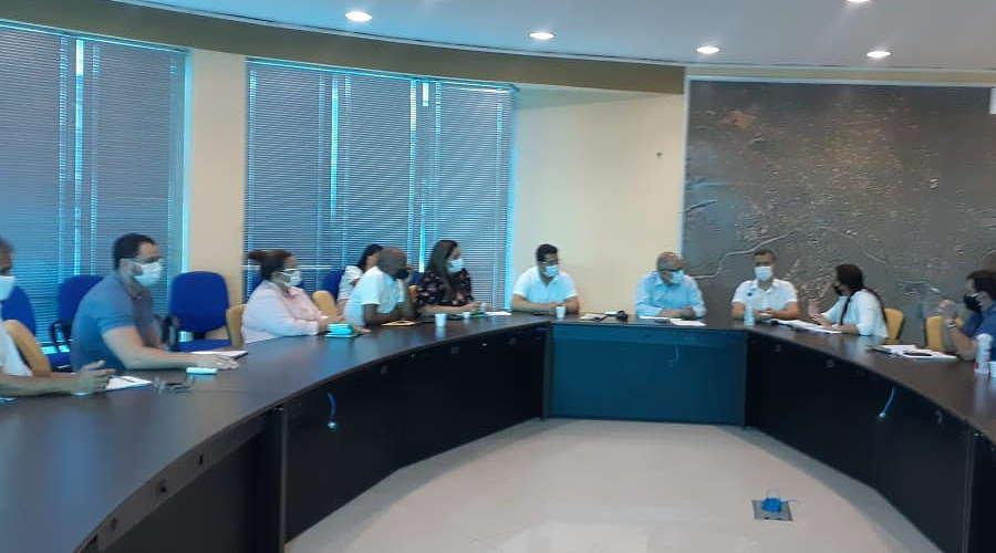 Imagem: reuniao pref sispmur Sispmur cobra biossegurança para servidores e entrega reivindicações ao prefeito