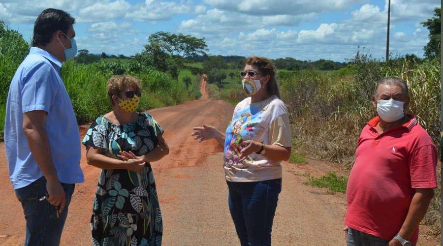 Imagem: Thiago Silva pede conclusão de pavimentação da 'Rodovia do Leite'