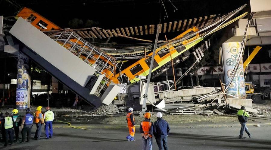 Imagem: 2021 05 04t073427z 913752293 rc2v8n9kmvp9 rtrmadp 3 mexico train accident Queda de viaduto por onde passava metrô deixa mortos e feridos