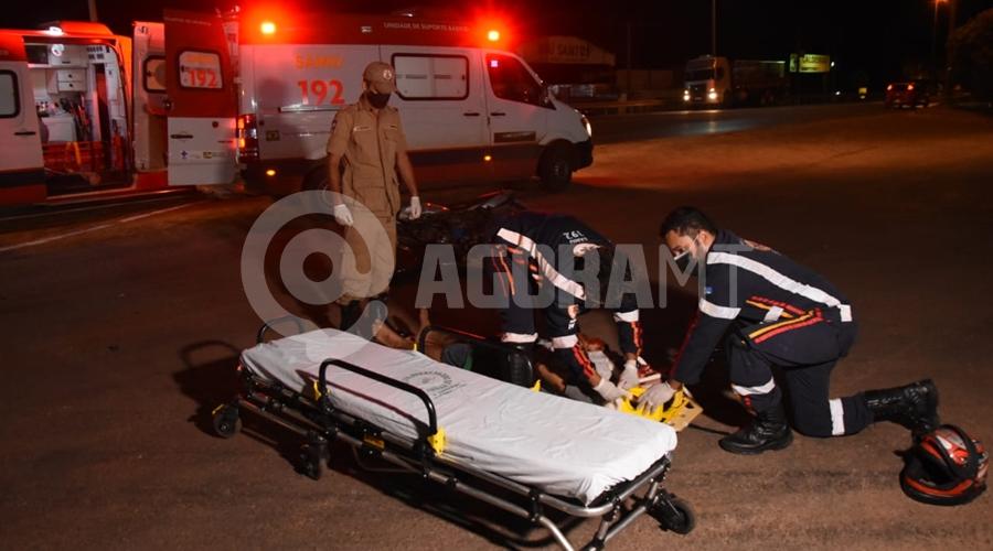 Imagem: 56be02d4 b198 442c af0d 7acd3a6a2629 Motociclistas ficam feridos após colisão na BR-364
