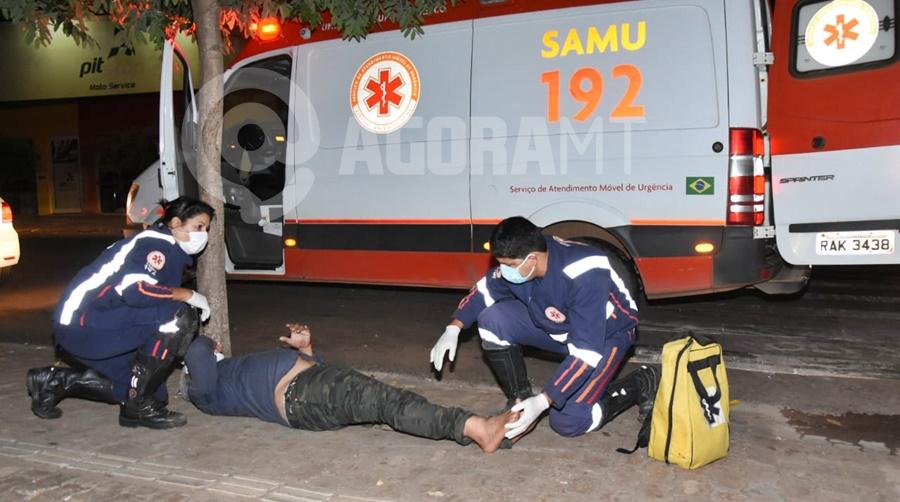 Imagem: ACIDENTE FAIXA 2 Homem é atropelado ao atravessar faixa de pedestre em Rondonópolis