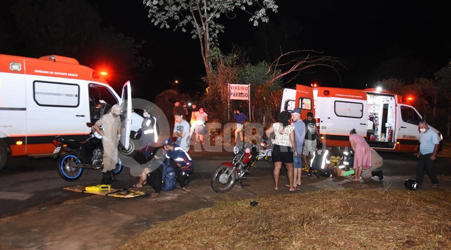 Imagem: Acidente entre os bairros Jardim Progresso e Jardim Nilmara Gestante sofre fratura após se envolver em acidente na Rua José Barriga