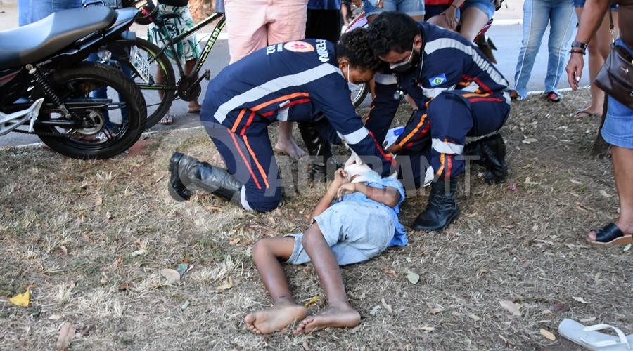 Imagem: Acidente na Avenida Brasil deixa duas criancas feridas Duas crianças são atropeladas enquanto brincavam na Avenida Brasil