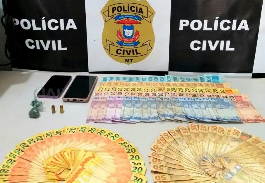Imagem: CONFRESA TRAFICO Suspeito que movimentava cerca de R$ 12 mil por dia com tráfico de drogas é preso