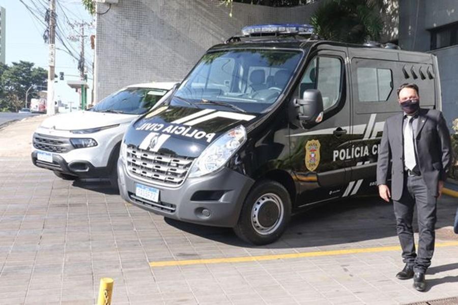 Imagem: DELEGADO CLAUDINEI Delegado Claudinei entrega veículos para a Polícia Civil de Rondonópolis