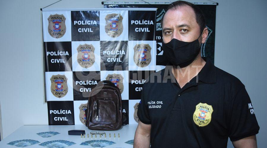 Imagem: Delegado Joao Paulo Paisner Acusado já roubou joalheria e outra agência em Rondonópolis