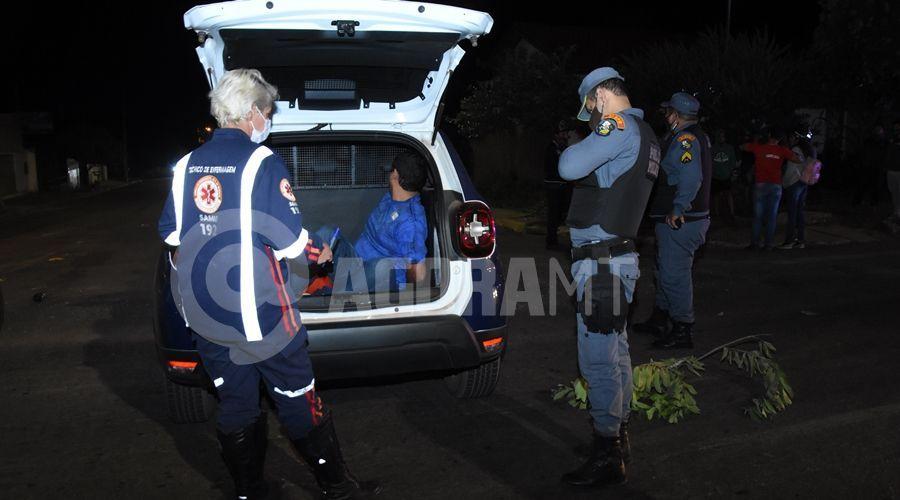 Imagem: Motociclista em visivel estado de embriaguez preso pela PM Motociclista embriagado invade preferencial e mulher fica ferida na batida