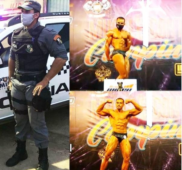 Imagem: Soldado fisiocuturista Policial militar conquista duas vitórias em Campeonato de Fisiculturismo