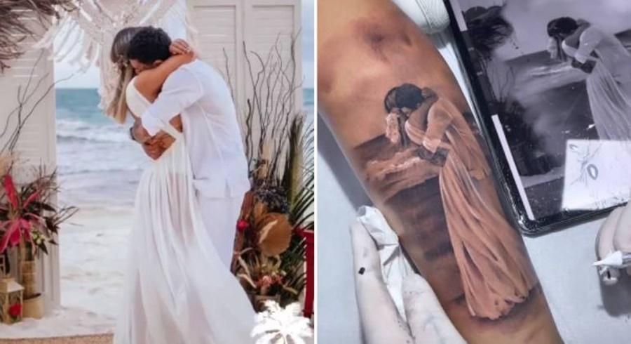 Imagem: TATUAGEM Viúva de MC Kevin faz tatuagem em homenagem ao cantor