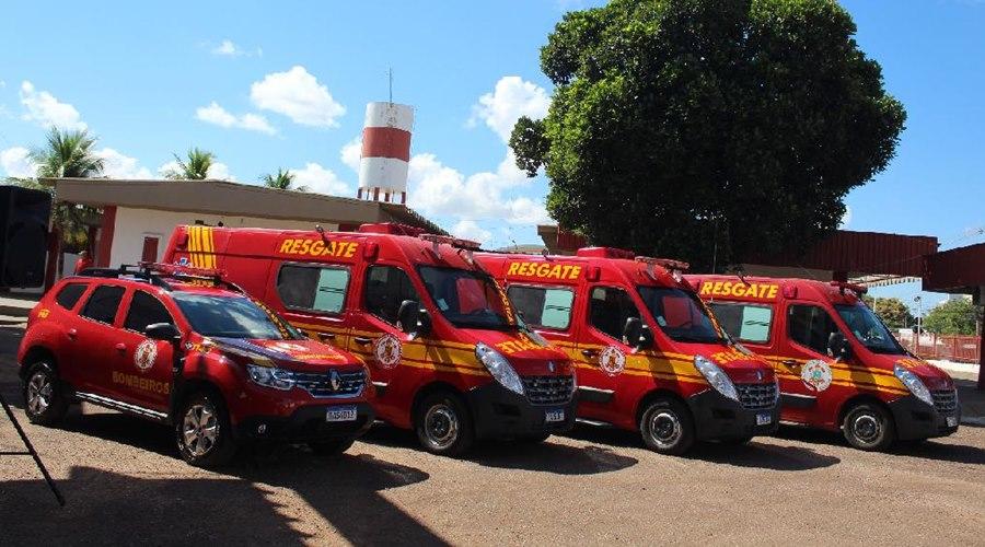 Imagem: Viatura do Corpo de Bombeiro Governo de Mato Grosso destina novas viaturas ao Corpo de Bombeiros Militar