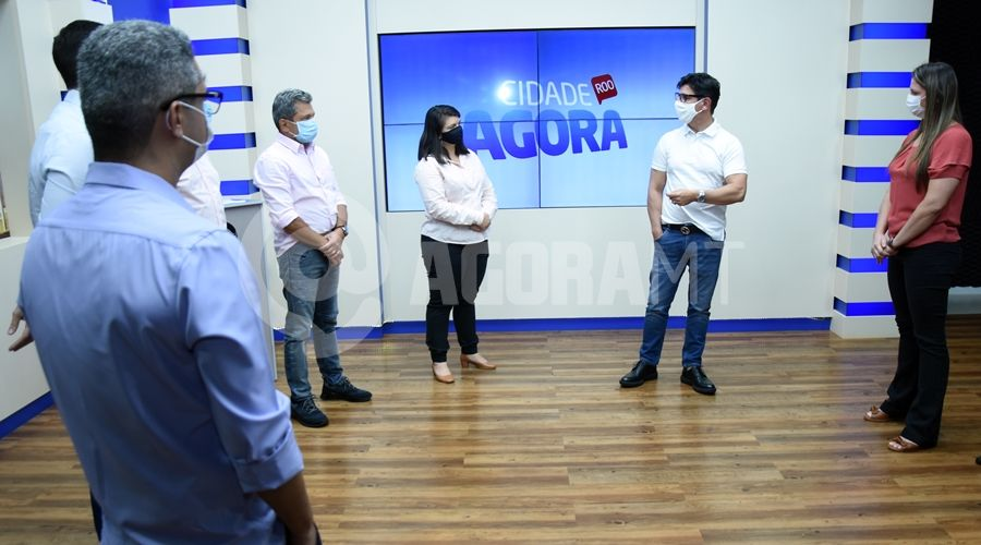 Imagem: Visita dos diretores da Record no Etudio do Cidade Agora Rondonopolis TV Cidade recebe visita do diretor da Record TV nacional