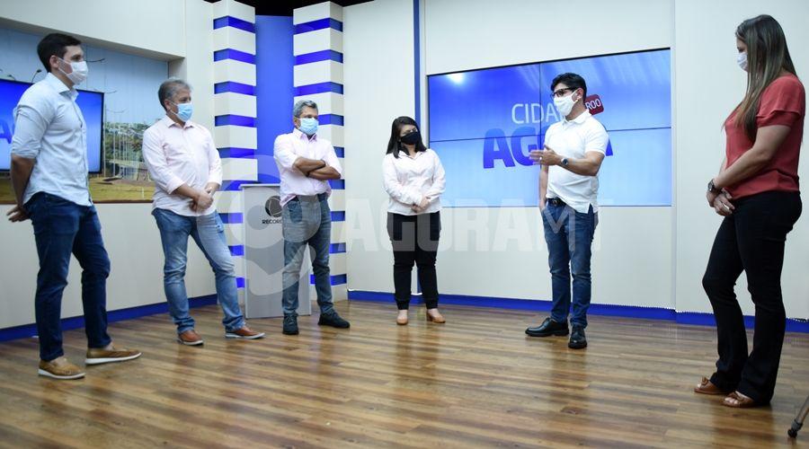 Imagem: Visita dos diretores da Record no Etudio do Cidade Agora Roo TV Cidade recebe visita do diretor da Record TV nacional