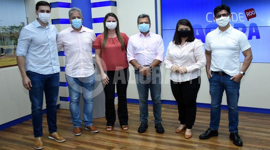 Imagem: Visita dos diretores da Record no Etudio do Cidade AgoraJPG TV Cidade recebe visita do diretor da Record TV nacional