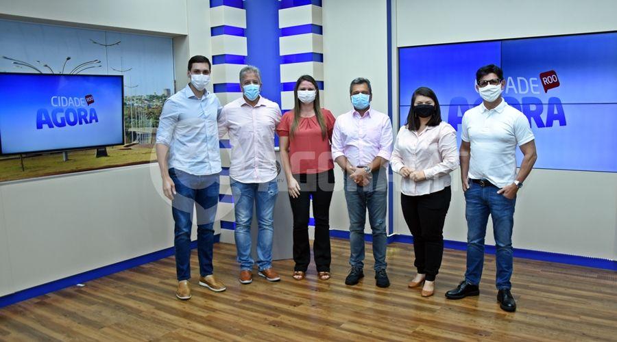 Imagem: Visita dos diretores da Record TV Cidade recebe visita do diretor da Record TV nacional