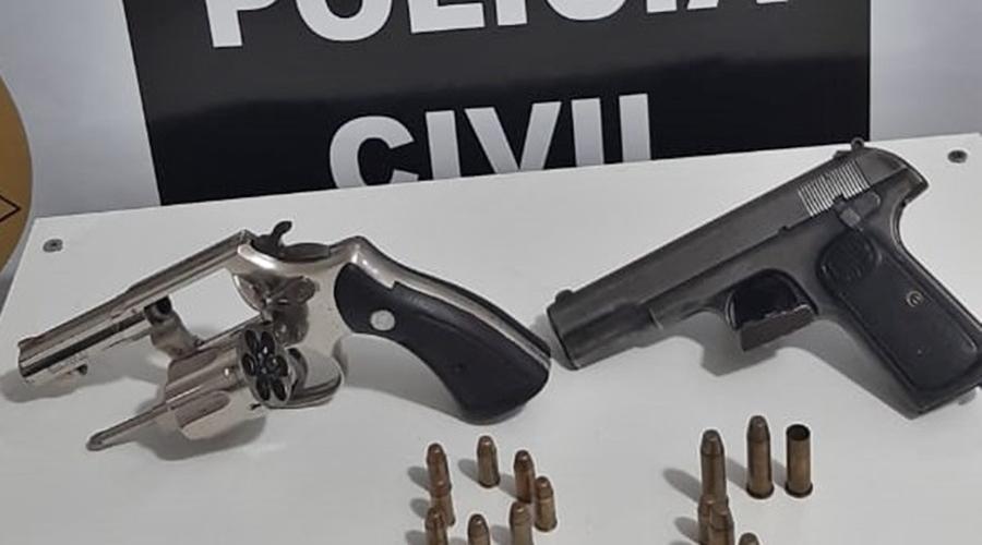Imagem: WhatsApp Image 2021 05 27 at 14 12 43 Suspeito de tentativa de feminicídio é preso com armas de fogo e munições
