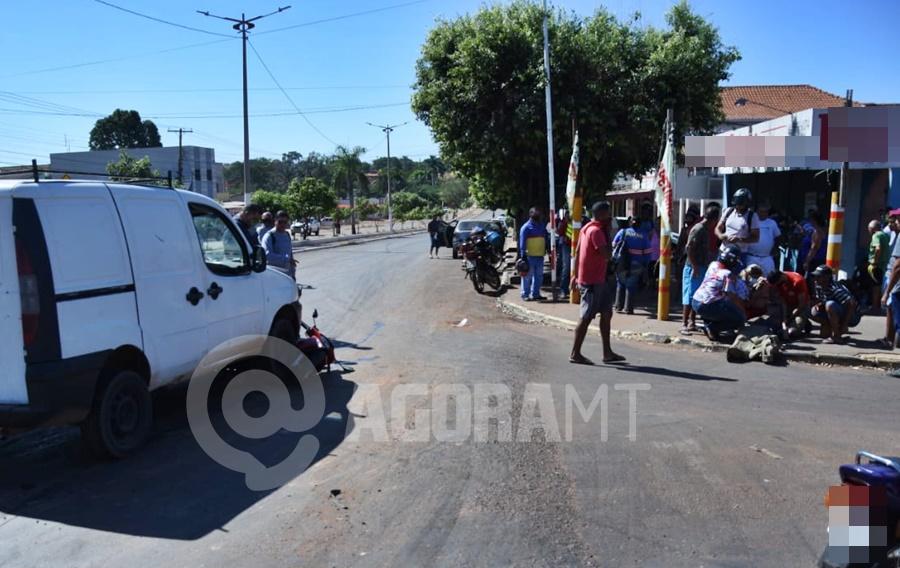 Imagem: acidente bandeirantes 3 Mãe e filha ficam feridas após acidente entre moto e carro