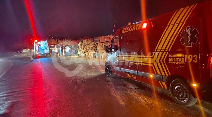 Imagem: acidente tangara 1 Carreta perde o freio e tomba na Serra Tapirapuã
