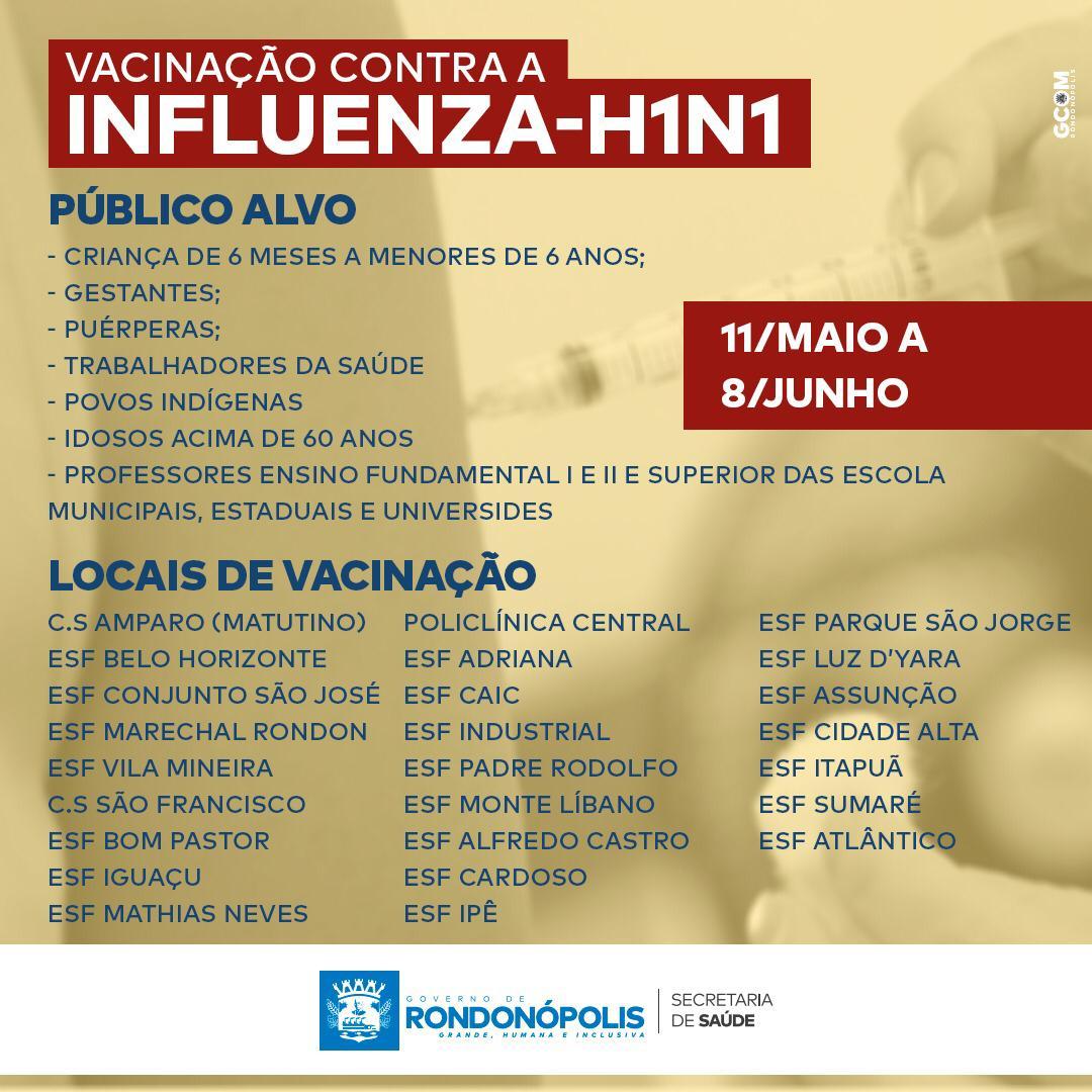 Imagem: calendari influenza Vacinação contra Covid-19 segue com idosos e atenderá pessoas sem comorbidades