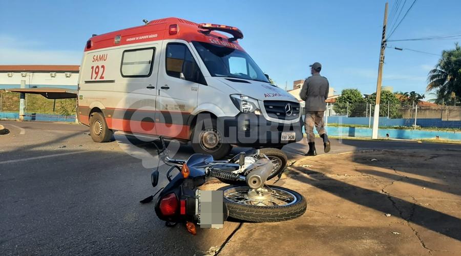 Imagem: d899fbd7 18a0 45f4 a5c0 3654fcece7ed Motociclista fica gravemente ferido ao bater em carro na Avenida Goiânia