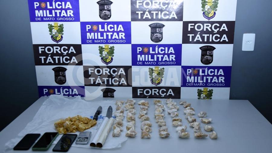 Imagem: droga apreendida Suspeitos de tráfico de drogas são presos com pasta base de cocaína
