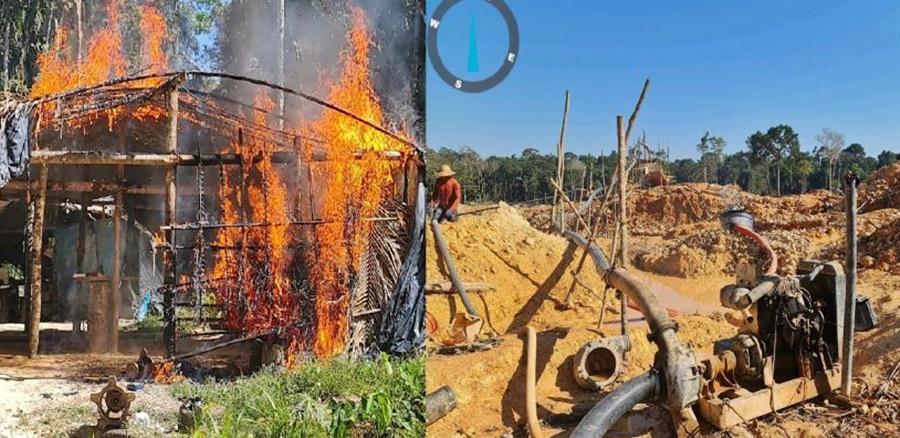 Imagem: garimpo capa Batalhão Ambiental descobre garimpo ilegal e apreende maquinário