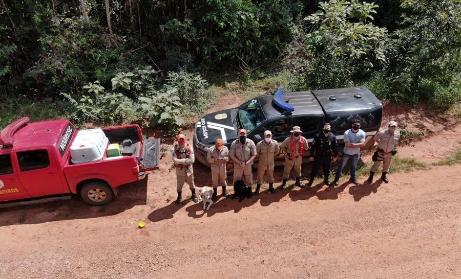 Imagem: local das buscas Polícia localiza corpos de empresários desaparecidos em Mato Grosso