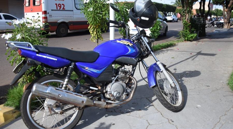 Imagem: moto Motociclista fica ferido após colisão na Vila Esperança