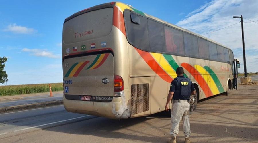 Imagem: prf Ônibus clandestino é tirado de circulação pela PRF