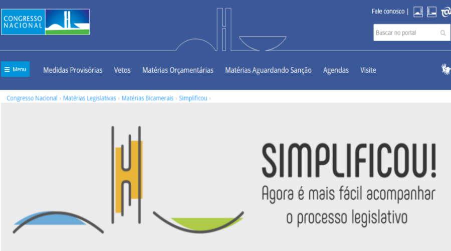 Imagem: simplificou legislativo Portal facilita acesso aos projetos da Câmara e do Senado Federal