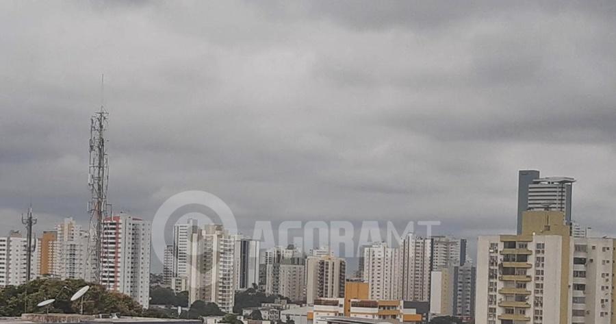 Imagem: tempo fechado Frente fria derruba temperatura em Cuiabá, quinta deve registrar 18°C