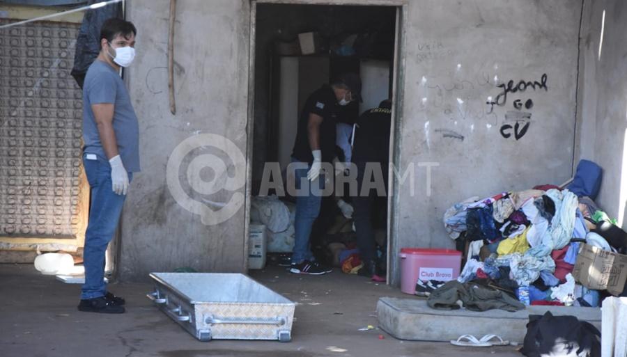 Imagem: usuaria morta Rondonopolis Mulher é encontrada morta em barracão ocupado por usuários