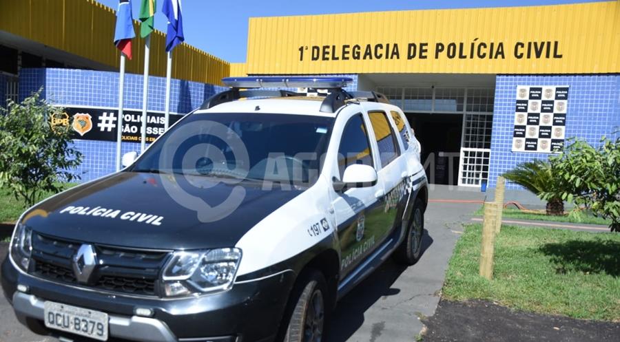 Imagem: viatura policia civil dp roo Jovem de 22 anos é preso com materiais de pornografia infantil