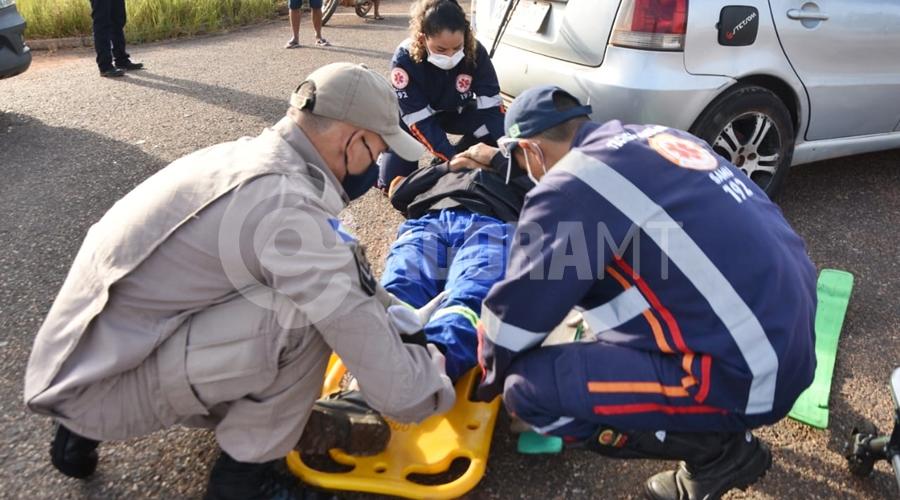 Imagem: 88a2e217 30d7 4f81 9b8e ca2004108529 Idoso fica ferido após colisão no Parque Rosa Bororo