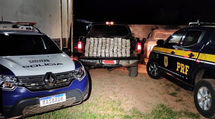 Imagem: 932f0ecc 4fd4 4c7d 9c1b 35b679eaf9bd Mais de 100 Kg de pasta base de cocaína são apreendidos na MT-170
