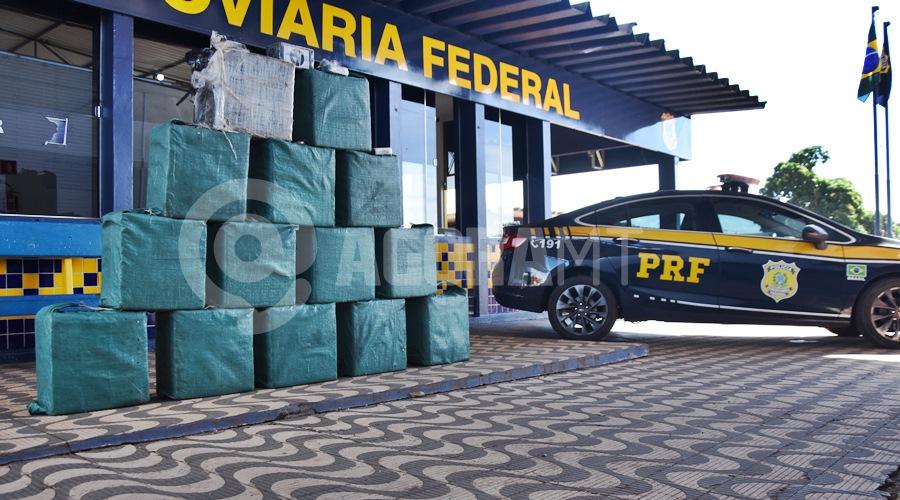 Imagem: Cloridato de cocaina apreendido no posto 201 em Rondonopolis PRF encontra 466 kg de drogas em câmara fria e faz apreensão recorde