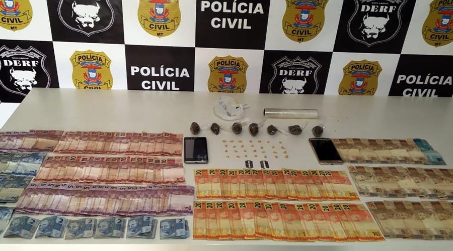 Imagem: Droga apreendida pela DERF Casal é preso por tráfico com drogas e mais de R$2 mil escondidos
