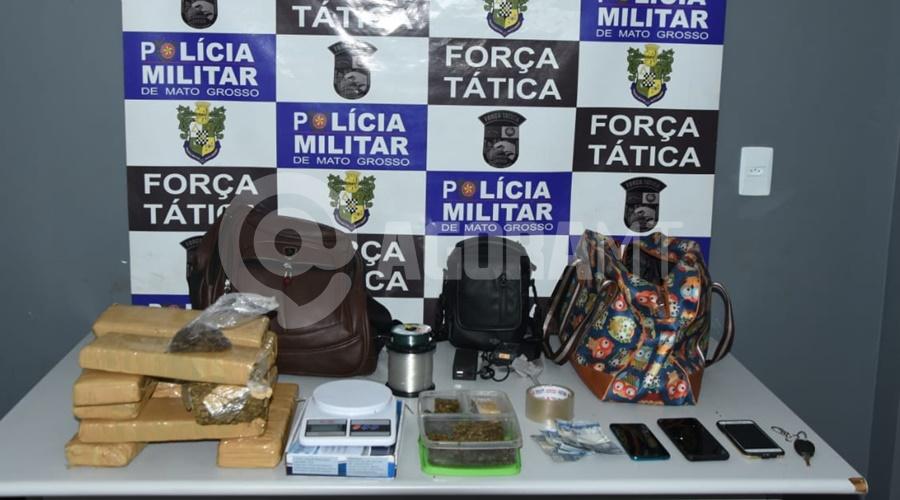 Imagem: Droga drone apreendido PM prende quatro indivíduos e tira droga e drone de circulação