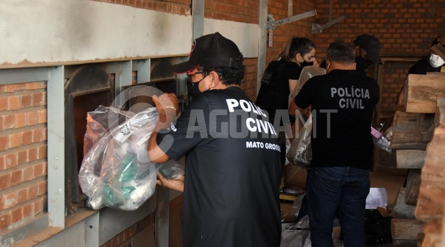 Imagem: Droga para incinerar pela DERF em Roo Derf incinera mais de uma tonelada de drogas