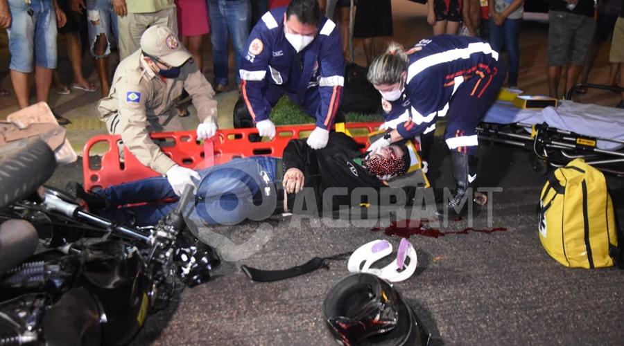 Imagem: Motociclista ficou em estado gravissimo Motociclista fica gravemente ferido em acidente no Centro