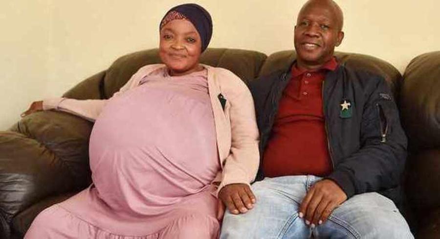 Imagem: Mulher sul africana deu a luz 10 bebes Mulher dá à luz a 10 bebês com gravidez natural e quebra recorde