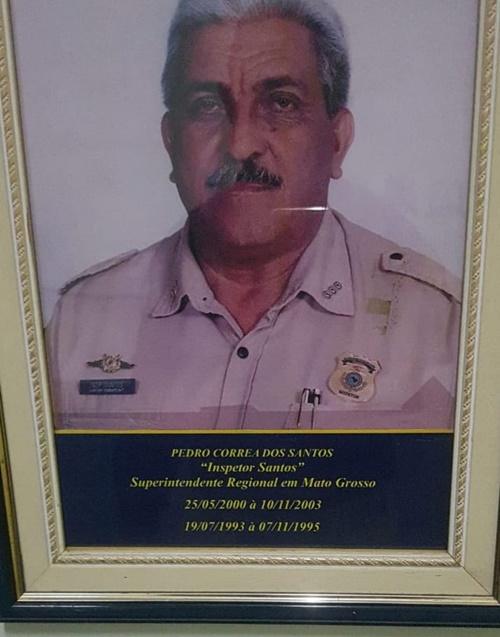 Imagem: Pedro Coorea dos Santos Ex - Superintendente da PRF de Mato Grosso é homenageado em sepultamento