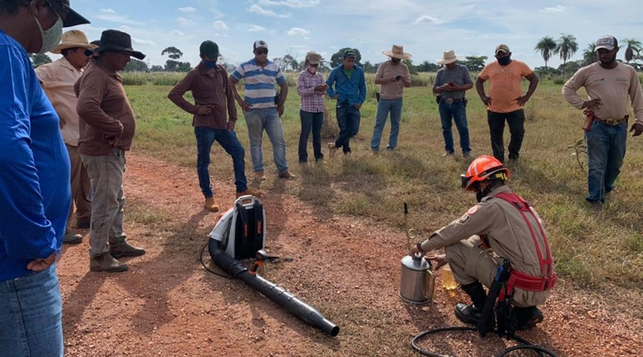 Imagem: Treinamento dos Pantaneiros Pantaneiros são treinados para atuar no combate aos incêndios florestais