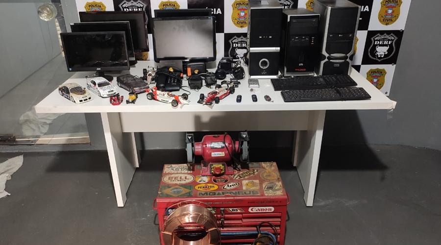 Imagem: WhatsApp Image 2021 06 10 at 18 40 15 Casal é preso por receptação e objetos furtados são recuperados