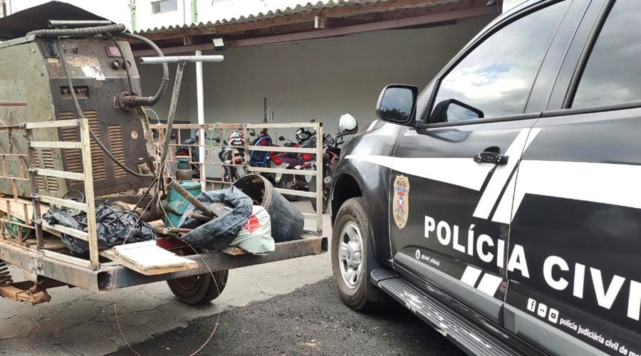 Imagem: WhatsApp Image 2021 06 10 at 18 40 16 Casal é preso por receptação e objetos furtados são recuperados